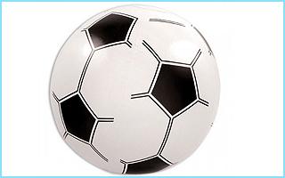 Dieser Wasserball im Fußball-Design ist hervorragend für dieses Partyspiel geeignet.
