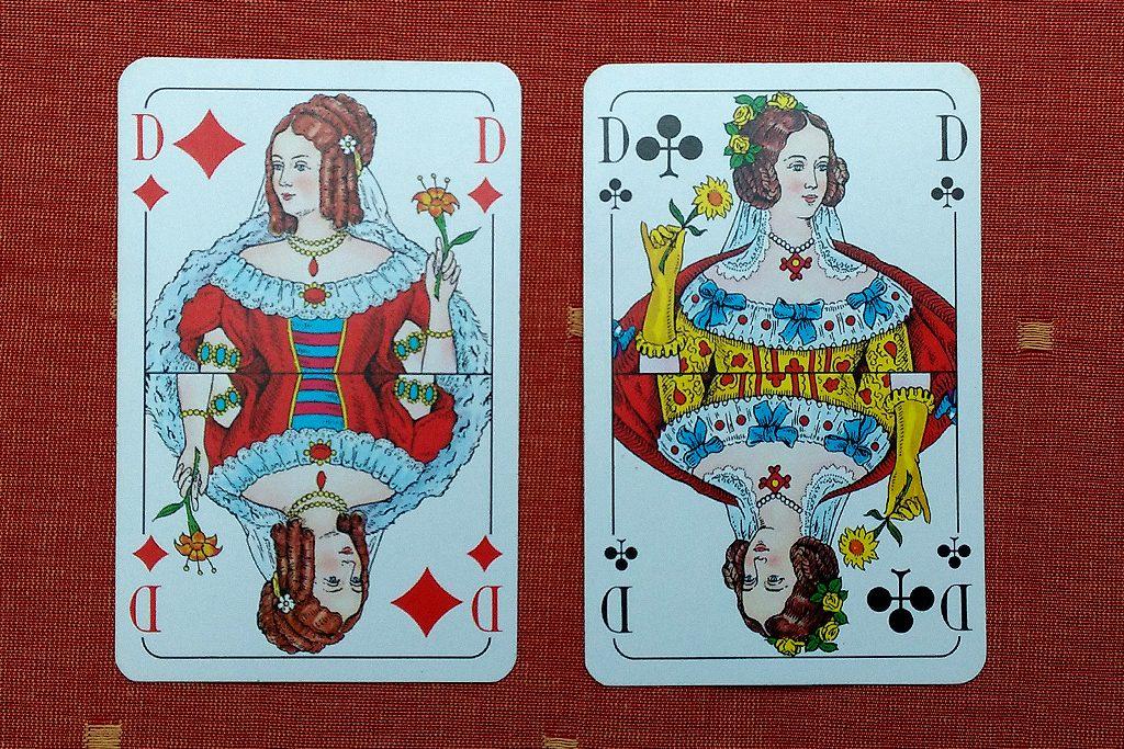 Bild 3: Ein Patt: beide Spieler legen eine Dame hin
