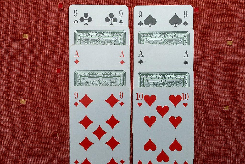 Bild 5: Dieses doppelte Duell gewinnt der Spieler mit der 10