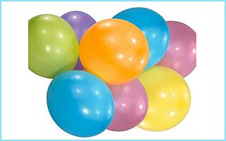 Pastellfarbene Luftballons für Partyspiele