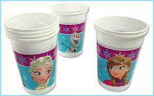 Niedliche Plastikbecher für Eure Eiskönigin-Mottoparty