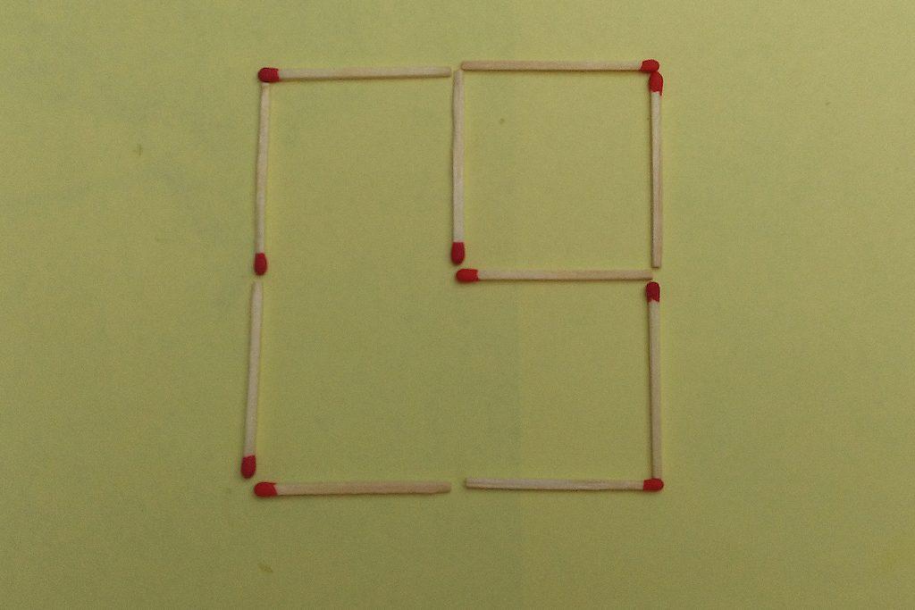 Lösung für das Streichholzrätsel Nr. 17
