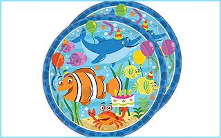 Partyteller mit Meerestieren